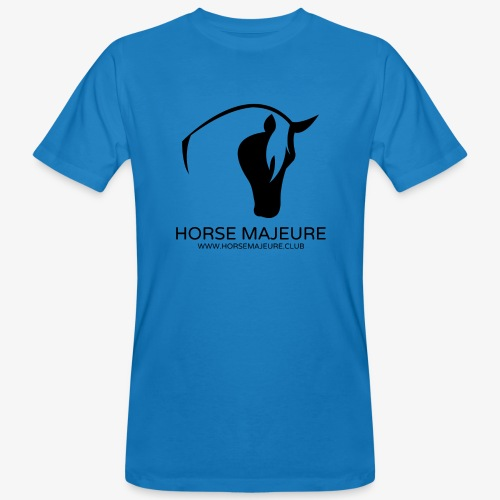 Horse Majeure Logo / Musta - Miesten luonnonmukainen t-paita