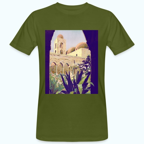 Palermo Vintage Travel Poster - Men's Organic T-Shirt