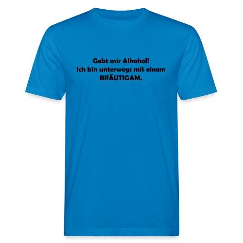 Unterwegs mit Bräutigam - Männer Bio-T-Shirt