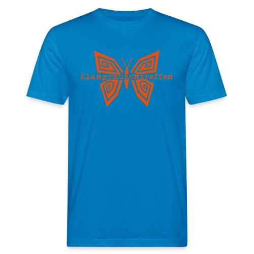 KlangRauschTreffen Schmetterling mit Schrift - Männer Bio-T-Shirt