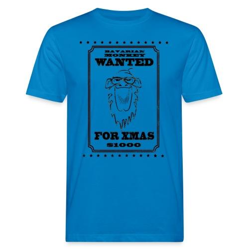 Bavarian Monkey Wanted for Xmas - Männer Bio-T-Shirt