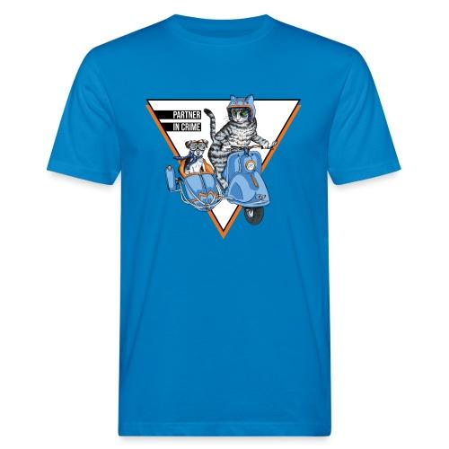 Partner in Crime - Cat & Dog - Männer Bio-T-Shirt