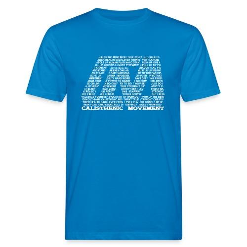 CM Logo aus Text weiß - Männer Bio-T-Shirt
