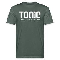 Tonic Logo - Men's Organic T-Shirt - dark grey