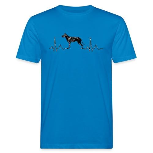 ECG met hond - Mannen Bio-T-shirt