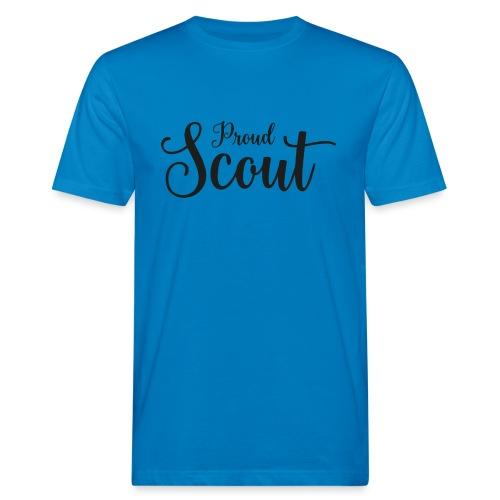 Proud Scout Lettering Black - Männer Bio-T-Shirt