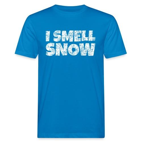 I Smell Snow Schnee, Weihnachten & Wintersport - Männer Bio-T-Shirt