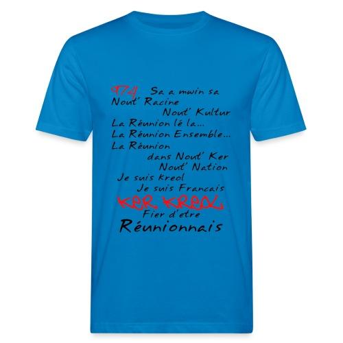Kosement kreol - 974 Ker Kreol - Réunionnais - T-shirt bio Homme