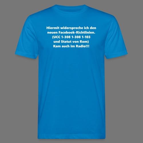 Facebook-AGB - Männer - Männer Bio-T-Shirt