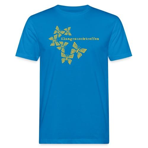KlangRauschTreffen Schmetterlinge mit Schrift - Männer Bio-T-Shirt