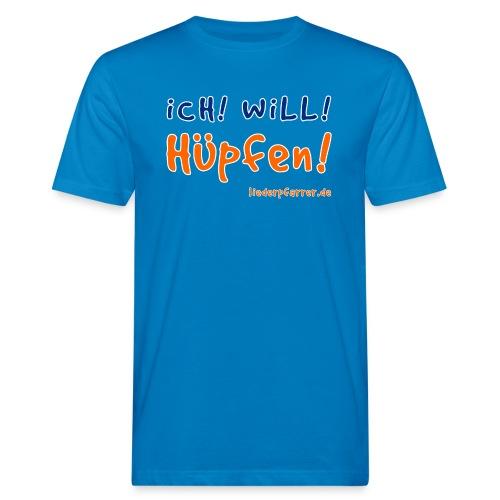 Ich! Will! Hüpfen! - Männer Bio-T-Shirt
