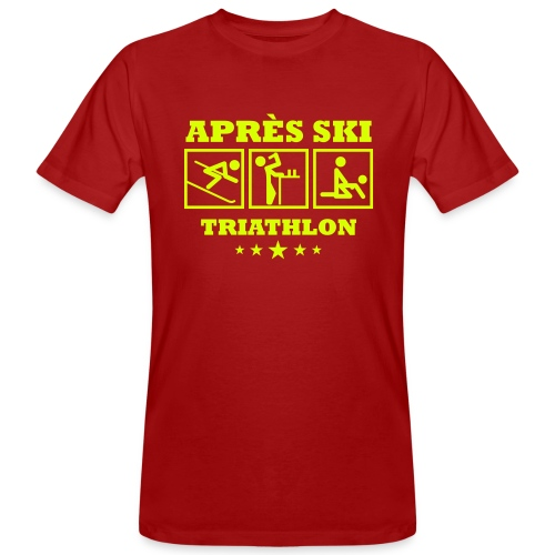 Apres Ski Triathlon | Apreski-Shirts gestalten - Männer Bio-T-Shirt