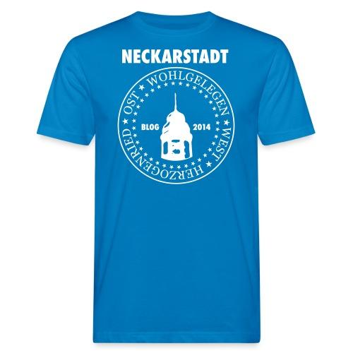 Neckarstadt – Blog seit 2014 (Logo hell) - Männer Bio-T-Shirt