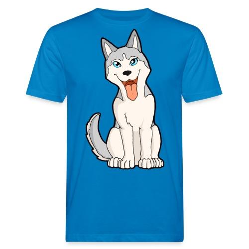 Husky grigio occhi azzurri - T-shirt ecologica da uomo
