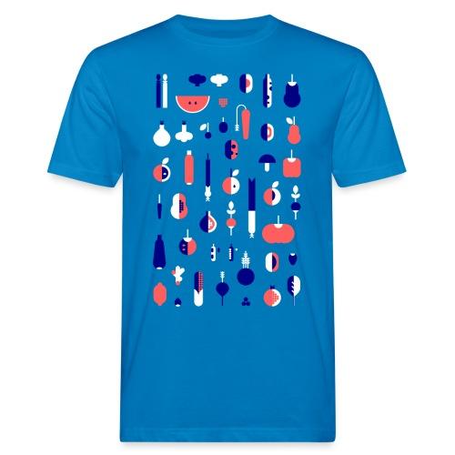 Gemüse Blau Hochformat - Männer Bio-T-Shirt
