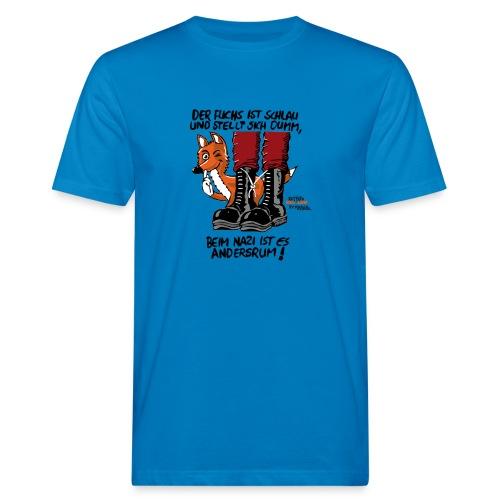 fuchsschlau - Männer Bio-T-Shirt