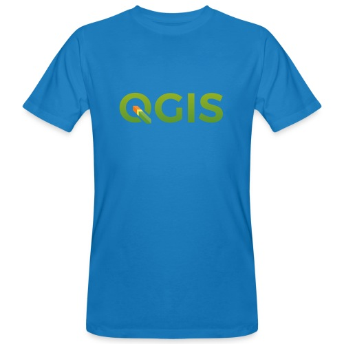 QGIS text transp bg 600dpi - Men's Organic T-Shirt