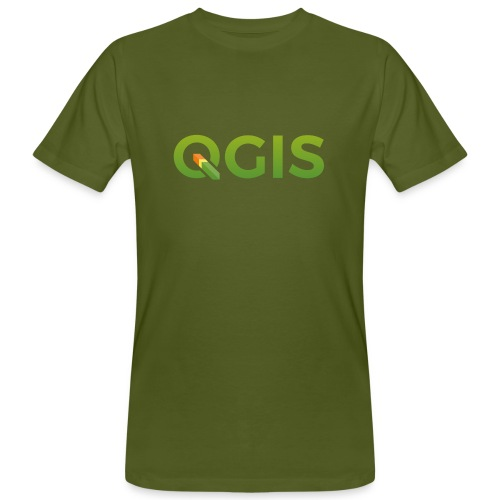 QGIS text logo - Men's Organic T-Shirt