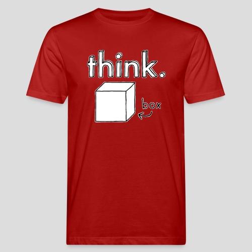 Think Outside The Box Illustration - Men's Organic T-Shirt