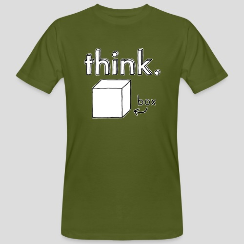 Think Outside The Box Illustration - Men's Organic T-Shirt
