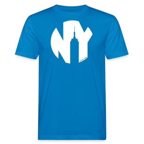 Logo French Yorker blanc - T-shirt bio Homme