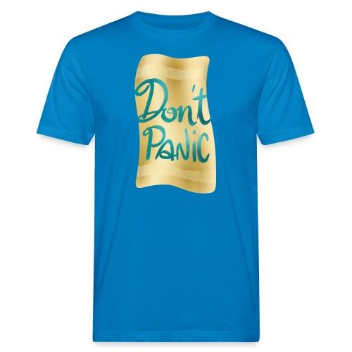 Don't Panic Handtuch - Männer Bio-T-Shirt