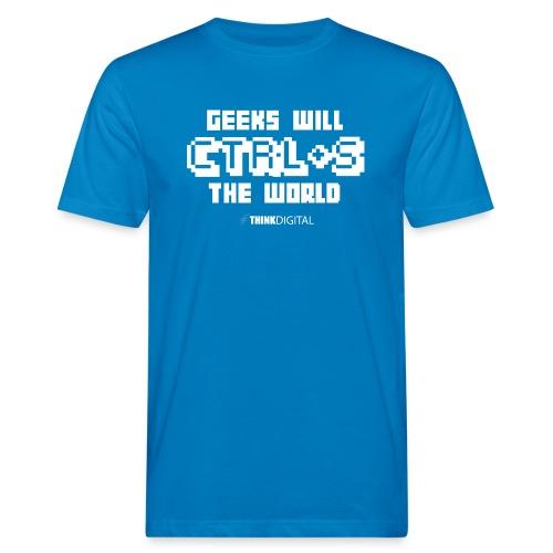 Geeks will save the world - T-shirt ecologica da uomo
