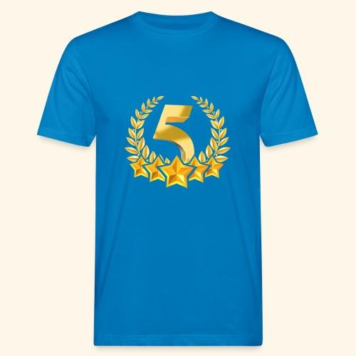 Fünf-Stern 5 sterne - Männer Bio-T-Shirt