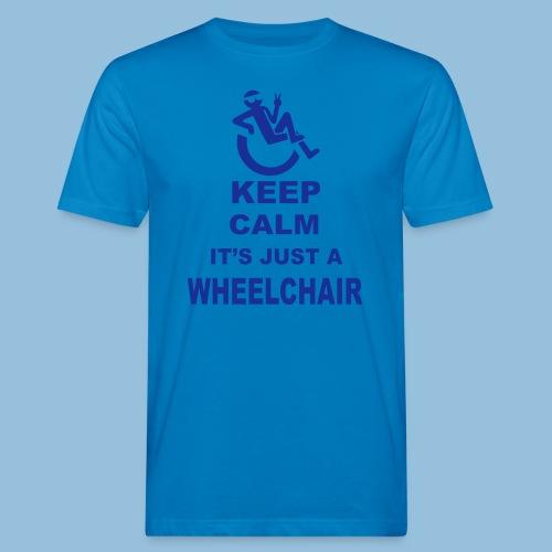 Keepcalmjustwheelchair2 - Mannen Bio-T-shirt
