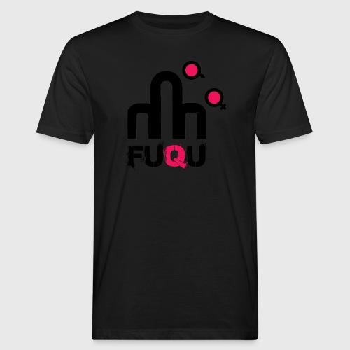 T-shirt FUQU logo colore nero - T-shirt ecologica da uomo