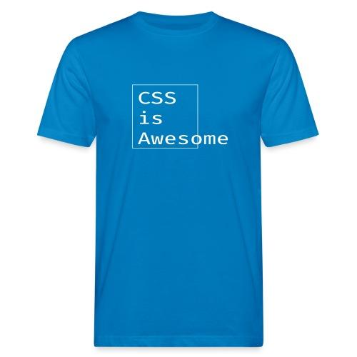 cssawesome - white - Mannen Bio-T-shirt
