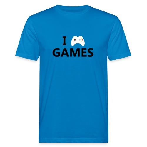 I Love Games - Camiseta ecológica hombre