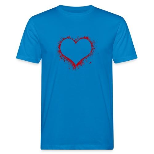 Herz/Heart - Männer Bio-T-Shirt