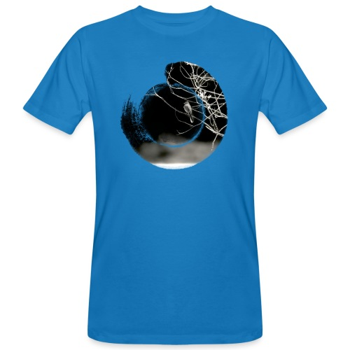 Bird on branches in zen circle, Japanese style - Men's Organic T-Shirt