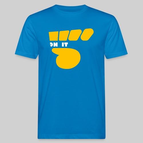 Logo 5 on It Jaune / blanc - T-shirt bio Homme