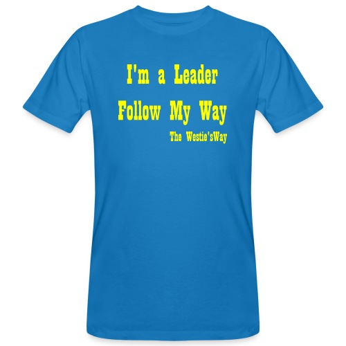 Follow My Way Yellow - Ekologiczna koszulka męska
