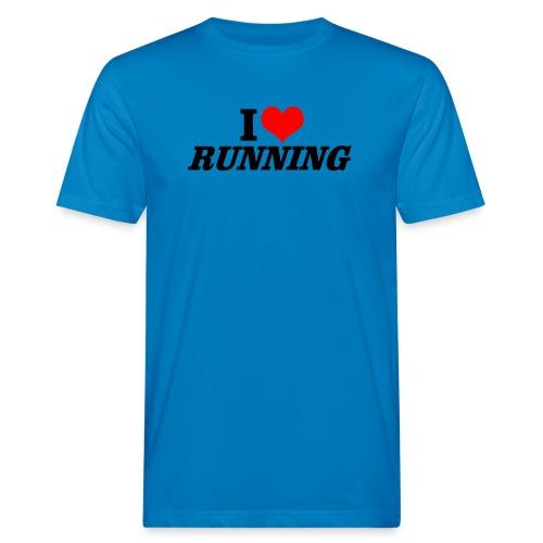 I love running - Männer Bio-T-Shirt
