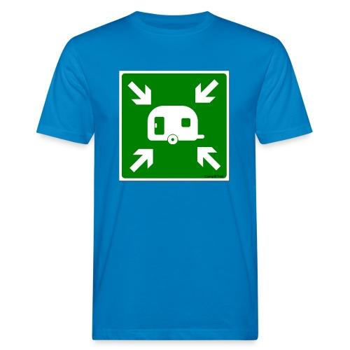 Meeting Point Caravan - Männer Bio-T-Shirt
