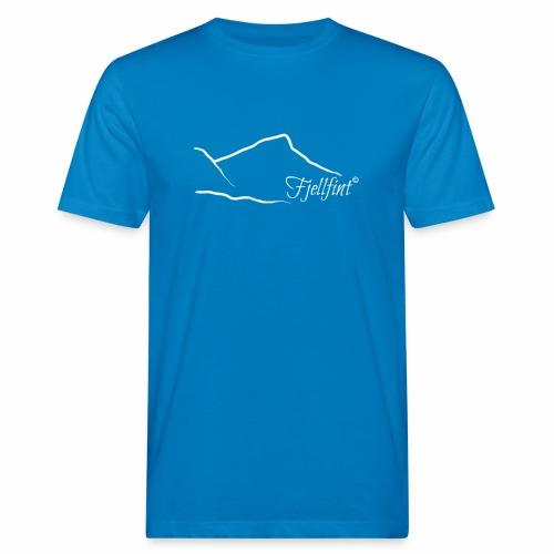 Fjellfint m/hvit logo - Økologisk T-skjorte for menn