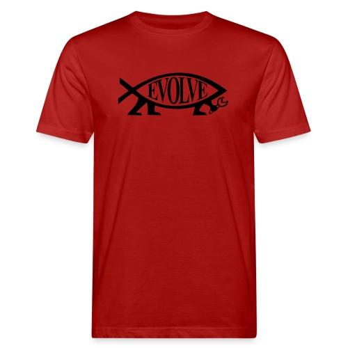 Navy Atheisten Darwin Fish Männer Langarm - Männer Bio-T-Shirt