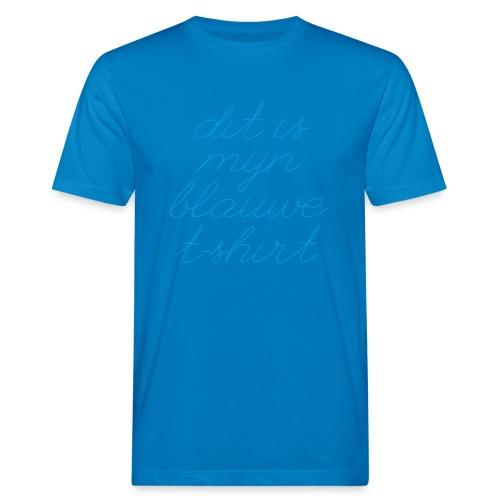 Blauw t shirt - Mannen Bio-T-shirt