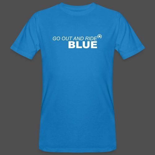 ride blue - Männer Bio-T-Shirt
