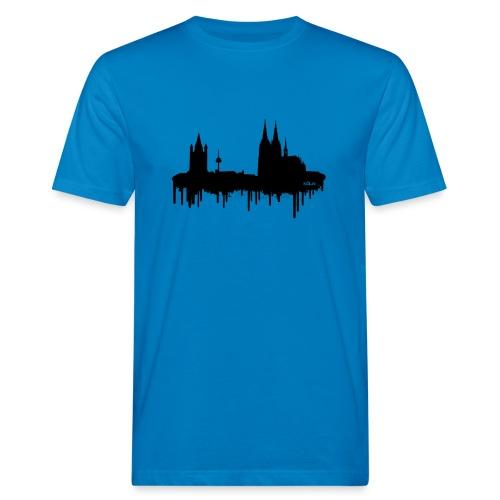 Skyline Köln - Schwarz - Männer Bio-T-Shirt