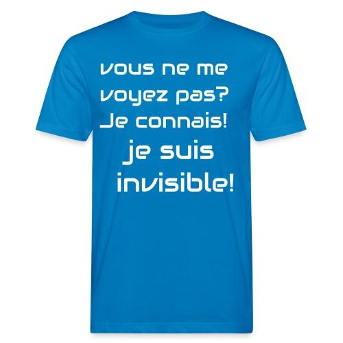 Invisibile #invisibile - T-shirt ecologica da uomo