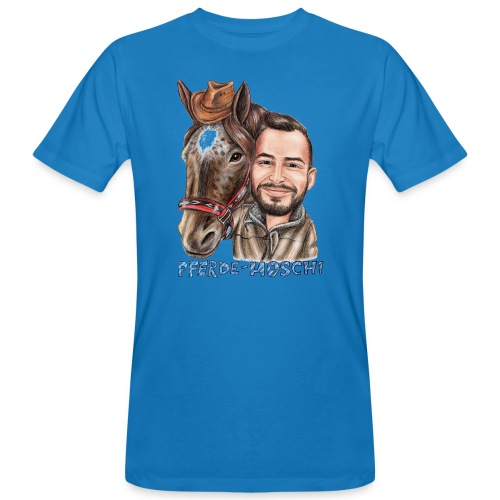 Pferde-Hoschi Kollektion hinten - Männer Bio-T-Shirt