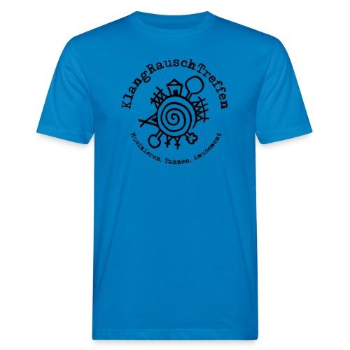 KlangRauschTreffen Logo mit Schrift rund - Männer Bio-T-Shirt
