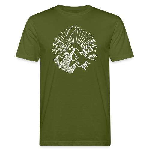 Paraglider Mountain Sunrise - Männer Bio-T-Shirt
