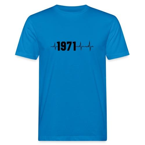 1971 Herzschlag - Männer Bio-T-Shirt