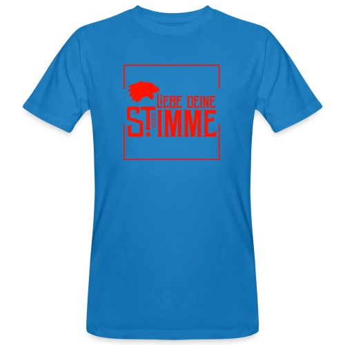 Liebe deine Stimme Flamme - Männer Bio-T-Shirt