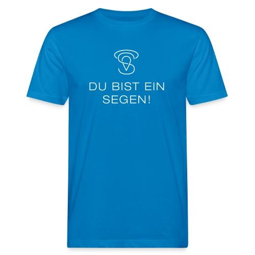 Du bist ein Segen (weiß) - Männer Bio-T-Shirt